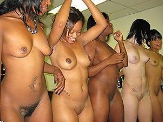 Sexy Ebony Enjoying A Huge Cock While Her Hot Friends Dance Naked